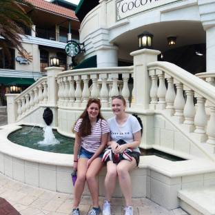 Sarah and I at the Grove