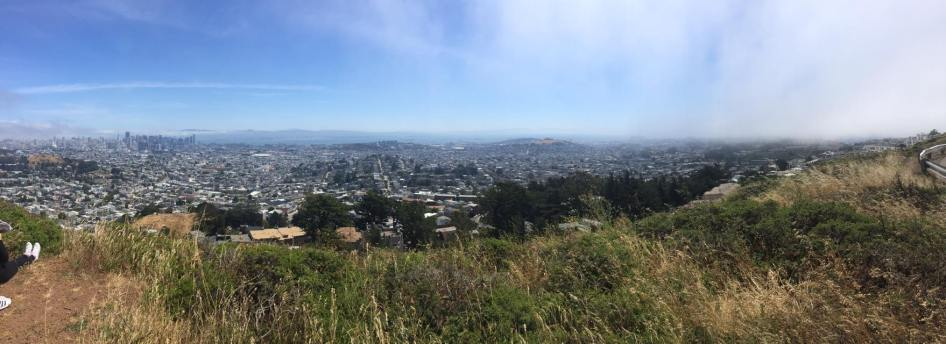 The view from the Twin Peaks after the fog clearer