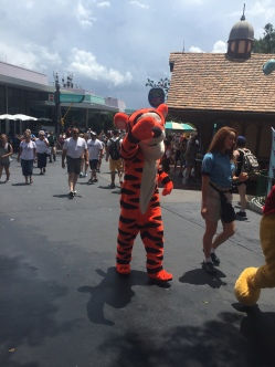 Tigger waltzing through Magic Kingdom