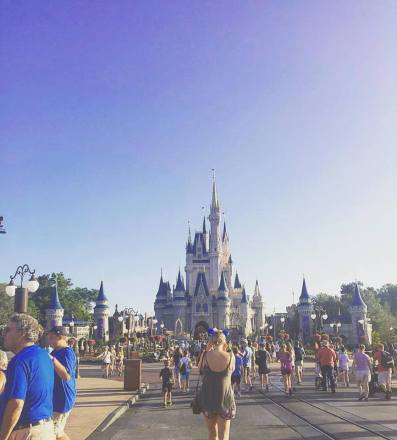 Heading towards Cinderella's Castle, FL