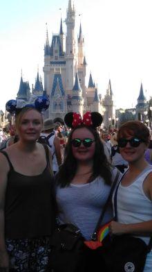 Me & sisters by Cinderella's Castle FL
