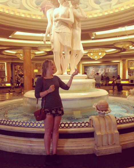Throwback to Caesar's Palace in Vegas