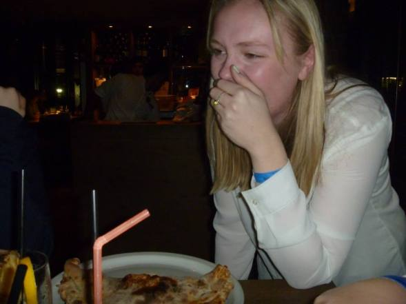 2015 - Crying over pizza (long story..) in Cologne Germany